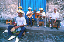Street musicians in Old Havana.