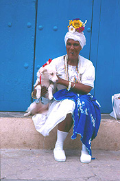 Colorful locals make for photo ops at every turn in Habana Vieja. © 2003 Lars Krutak.