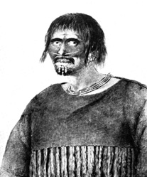 A man of Turnagain River, Alaska, 1778. Drawing by John Webber.