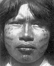 Lengua woman with facial