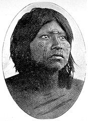 Toba woman with facial