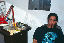 Sosa is located in Old Havana and works out of his parents' living room. His grandfather was a noted Cuban painter - artistry appears to run in the family.