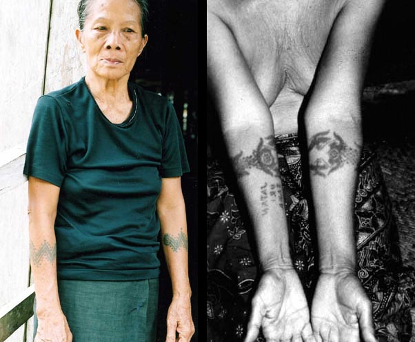 Borneo 39 s tattooed women 39 warriors 39 weavers of the skrang for Tattoos for older adults