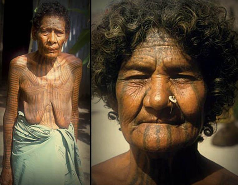 Hawaiian facial tattoo